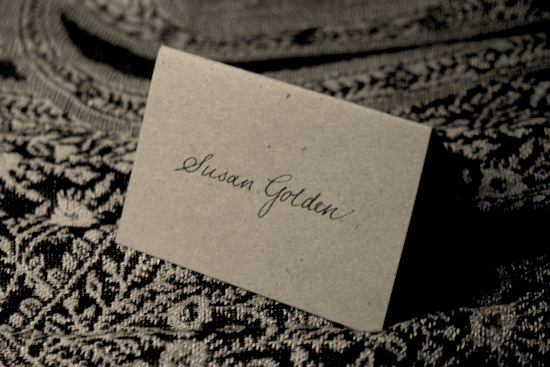 calligraphy place card example